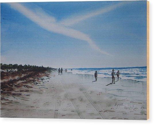Florida Beach Day Wood Print