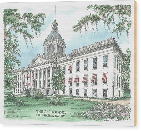 Florida Capitol 1902 Wood Print
