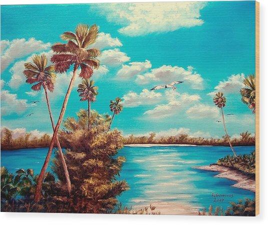 Florida Hideaway Wood Print by Riley Geddings