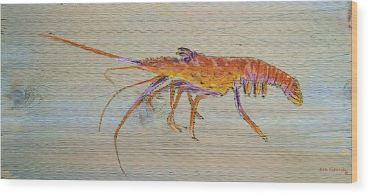 Florida Lobster Wood Print