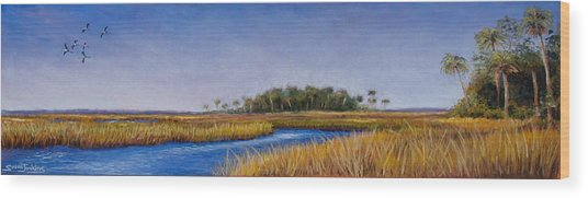 Florida Marsh In June Wood Print