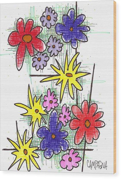 Florists Dozen Wood Print