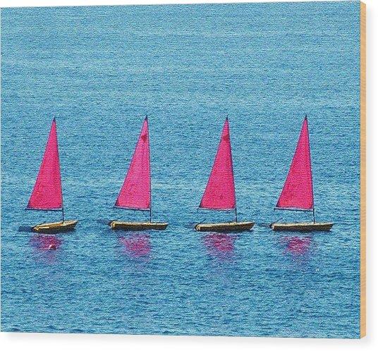 Flotilla Wood Print by John Bradburn