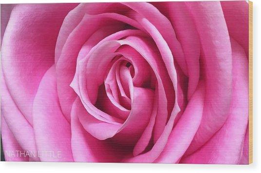 Flourishing Pink Wood Print