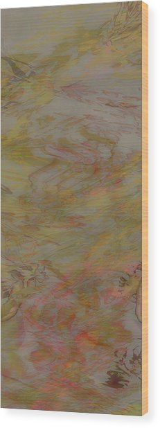Flow Improvement In The Fog Wood Print