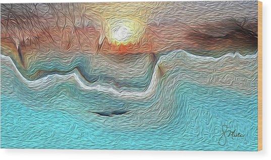Flow Of Creation Wood Print