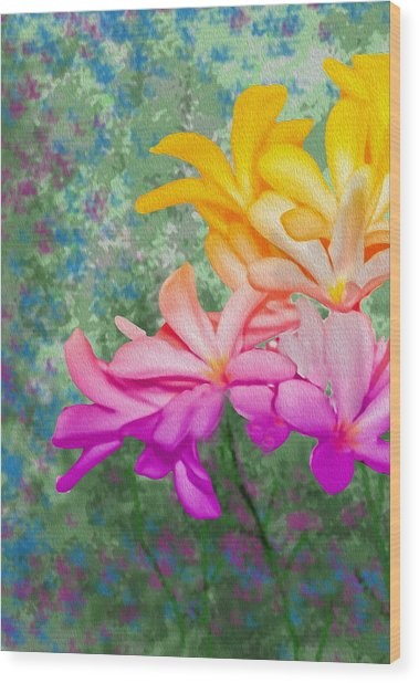 God Made Art In Flowers Wood Print