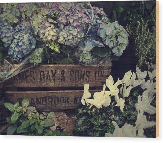 Flower Box Wood Print by JAMART Photography