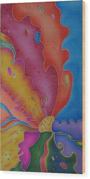 Flower-butterfly   Wood Print by Tatiana  Antsiferova