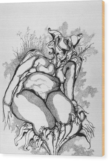Flower Child Wood Print by Daniel Culver