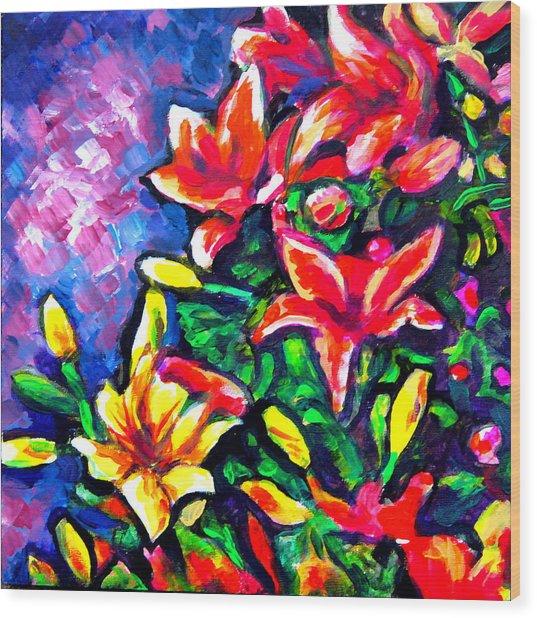 Flower Culture 297 Wood Print by Laura Heggestad