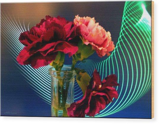Flower Decor Wood Print