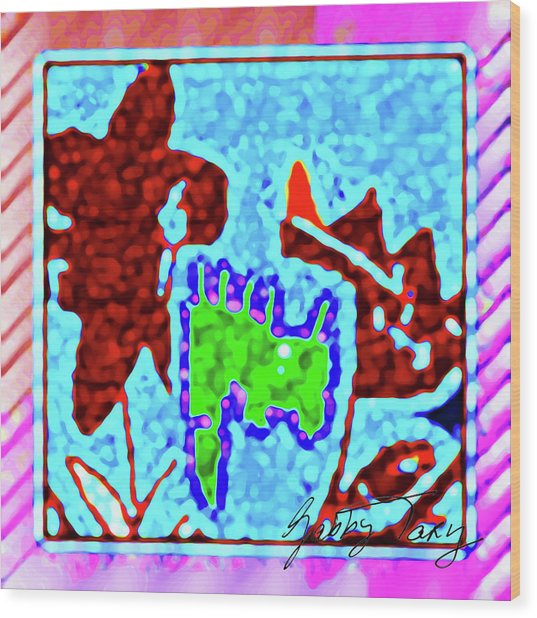 Flower Design #3 Wood Print