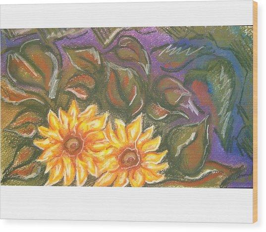 Flower Doodle Wood Print by Candice DeKay