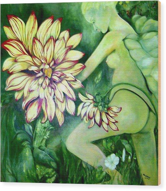 Flower Faery Wood Print