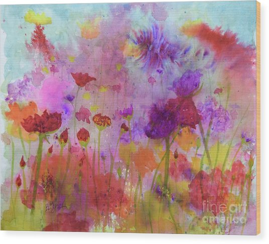 Flower Frenzy  Wood Print