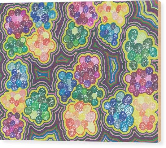 Flower Frenzy Wood Print