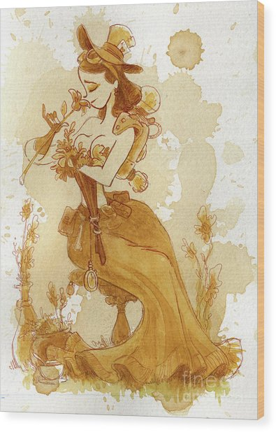 Flower Girl Wood Print by Brian Kesinger