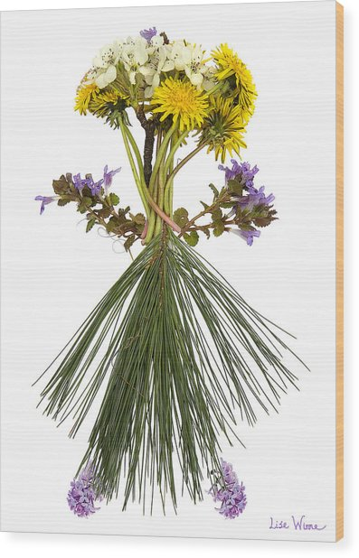 Flower Head Wood Print