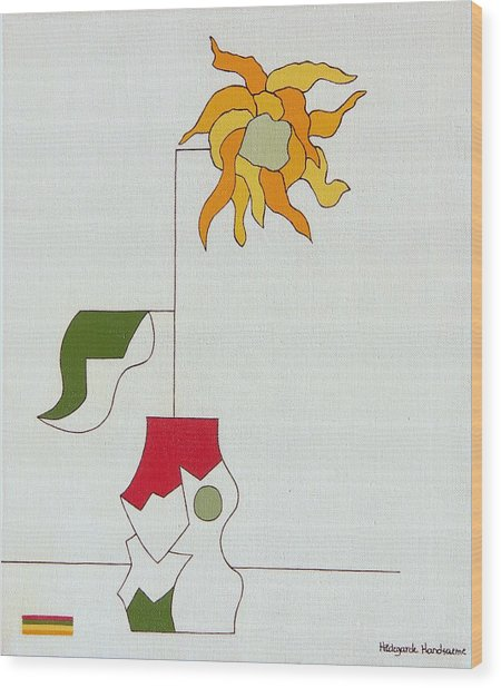 Flower II Wood Print by Hildegarde Handsaeme