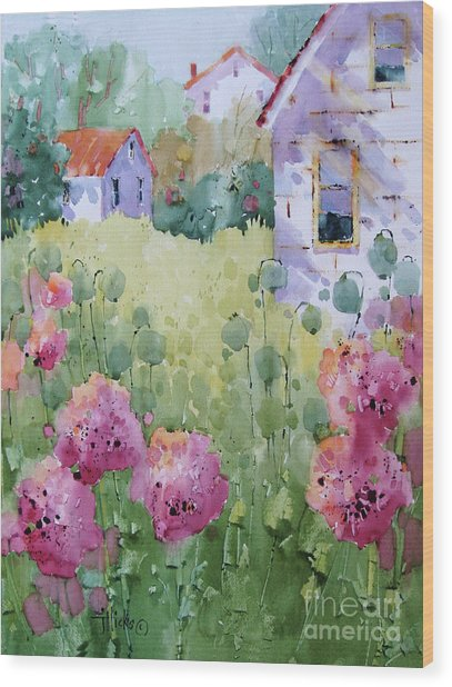 Flower Lady's Poppies Wood Print