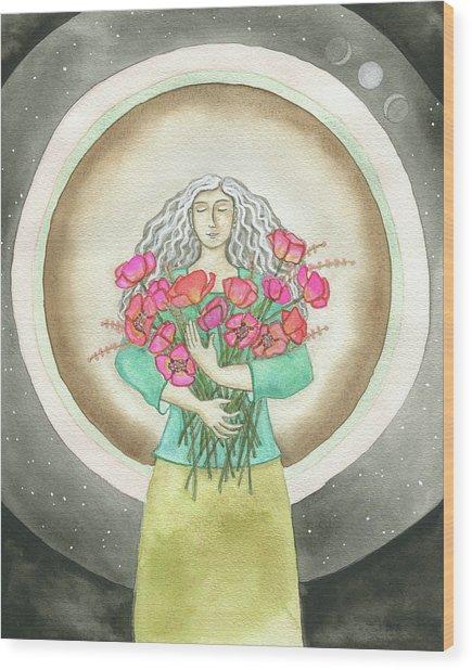 Flower Love Wood Print