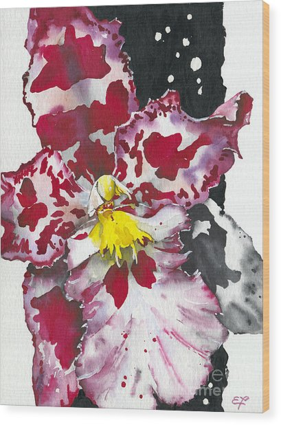 Flower Orchid 11 Elena Yakubovich Wood Print