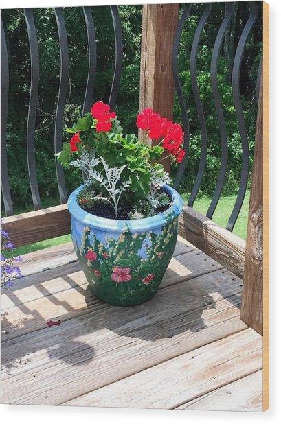 Flower Pot Wood Print