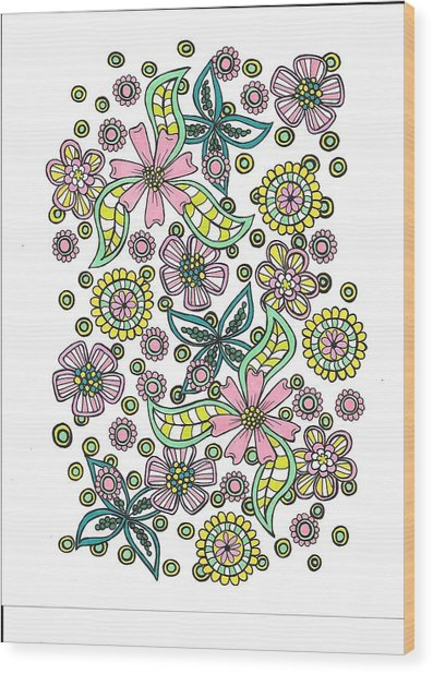 Flower Power 5 Wood Print
