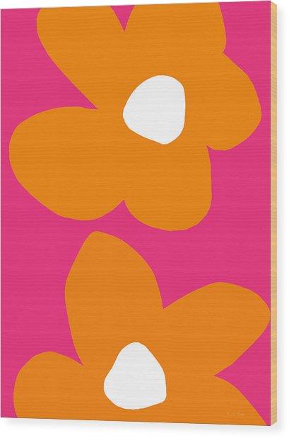 Flower Power 6- Art By Linda Woods Wood Print