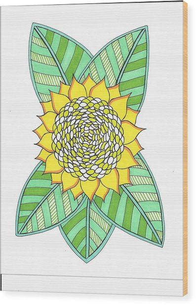 Flower Power 6 Wood Print