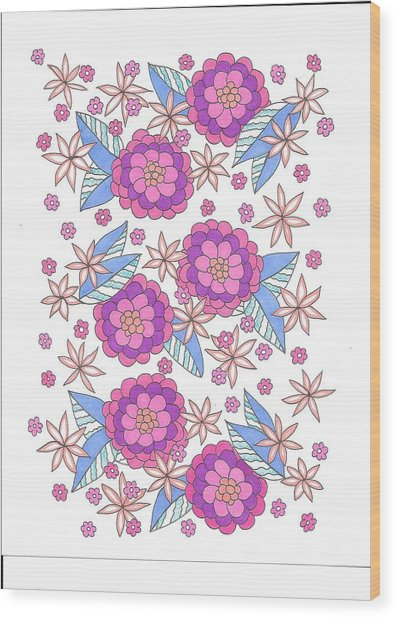 Flower Power 9 Wood Print