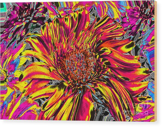 Flower Power II Wood Print