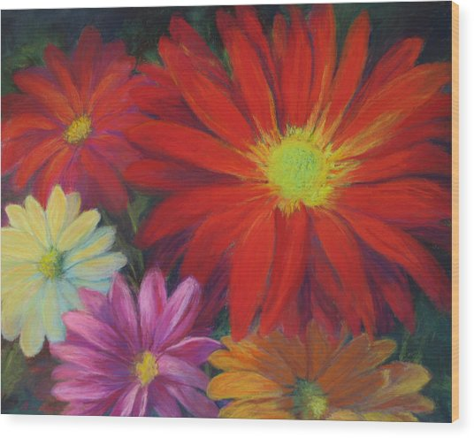 Flower Power Wood Print