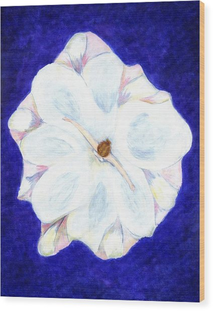 Flower Princess - Www.jennifer-d-art.com Wood Print by Jennifer Skalecke