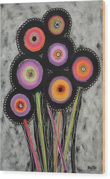 Flower Series 6 Wood Print