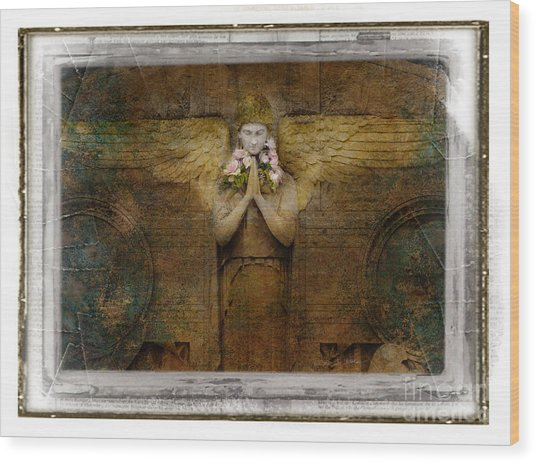 Flower Spes Angel Wood Print