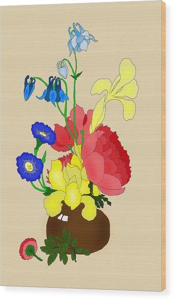 Floral Still Life 1674 Wood Print