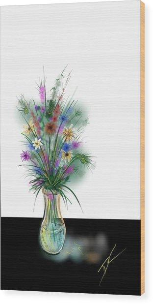 Flower Study One Wood Print