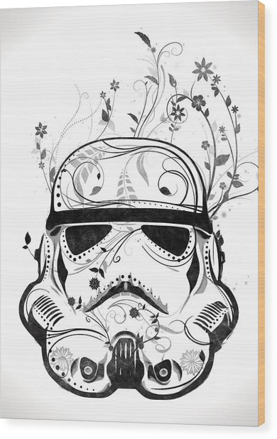 Flower Trooper Wood Print