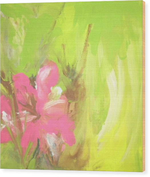Flower Wood Print by Vivien Ferrari