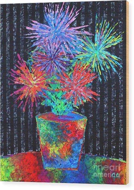 Flower-works Plant Wood Print