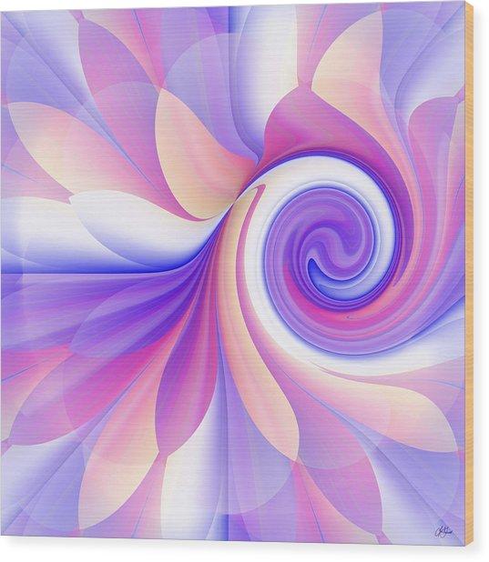 Flowering Pastel Wood Print