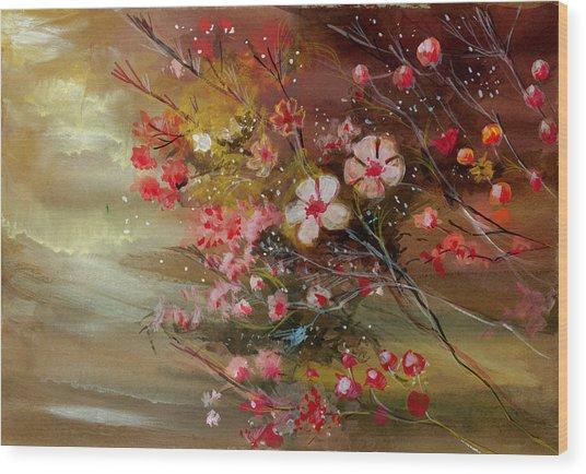 Flowers 2 Wood Print