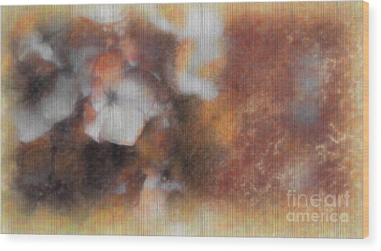 Flowers Abstract 1 Wood Print