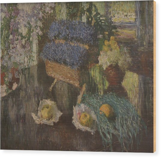 Flowers And Fruits Wood Print by Igor Grabar