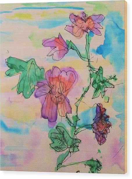 Flowers Are Blooming  Wood Print