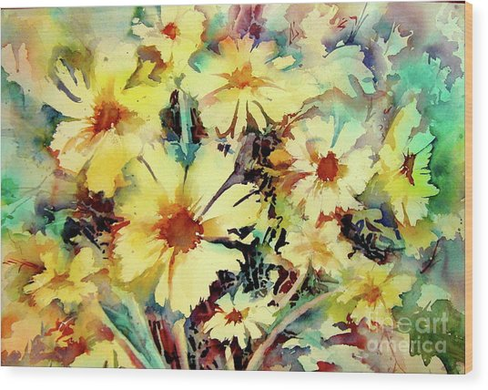 Flowers Are The Sweetest Things Wood Print