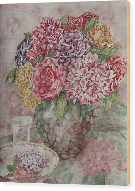 Flowers Arrangement  Wood Print