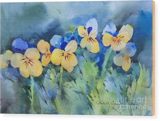 Flower's Beauty Wood Print